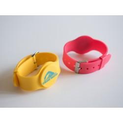 Customized RFID/NFC Silicone Watch-Type Wristband