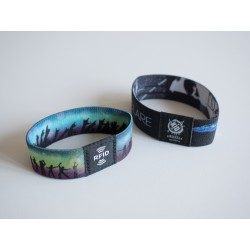Customized Fabric RFID/NFC Wristband (With Internal Chip)