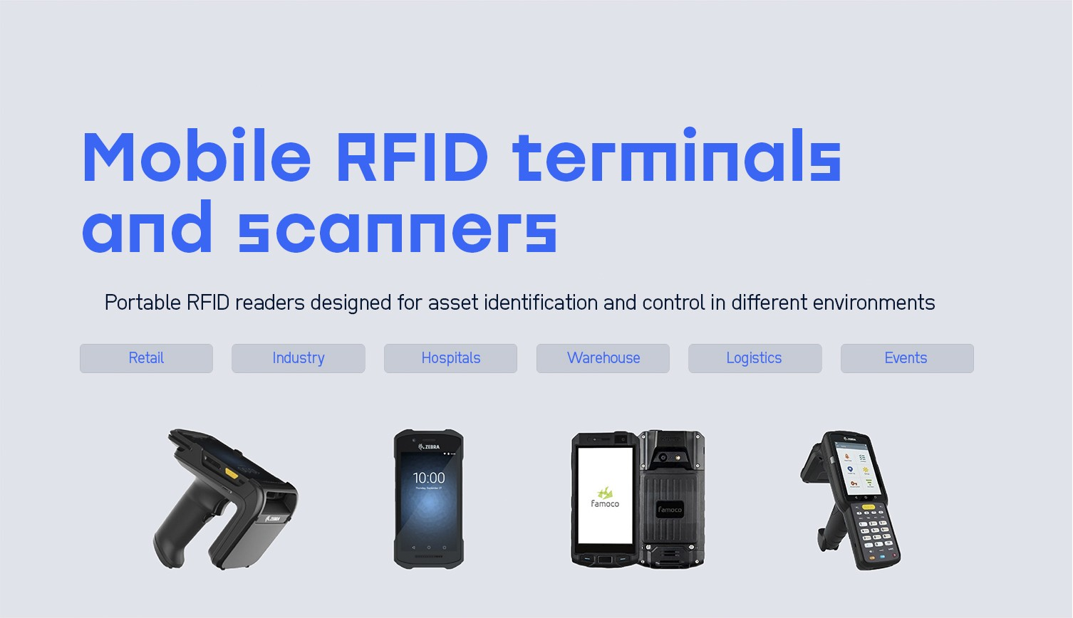 Mobile RFID terminals and scanners