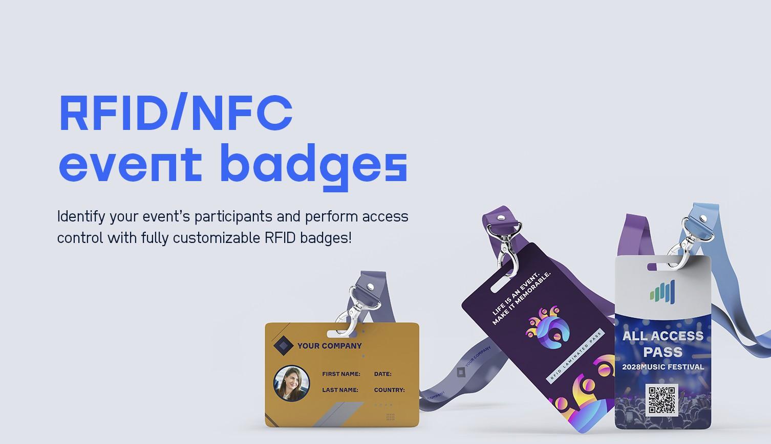 RFID / NFC event badges